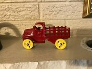 C1920's Walker And Stewart Cast Iron Toy Stake Truck 5 Long England