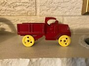 C1920's Walker And Stewart Cast Iron Toy Open Box Stake Delivery Truck England