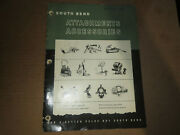 South Bend Lathe Works Catalog 5418, Attachments Accessories 40pgs C1954
