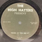 High Hatters - Music As You Like It 33 Rpm - Tested Vg Vinyl - Promo - F2
