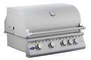 32'' Stainless Steel Built In Outdoor Bbq Island Grill 4 Burner Drop In Bbq