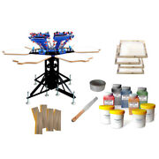 6 Color Screen Printing Kit Shirt Press Printer And 6 Pcs Screen Frame / Squeegee