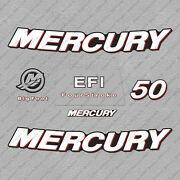 Mercury 50 Hp 4-stroke Efi Outboard Engine Decals Sticker Set Reproduction 2006