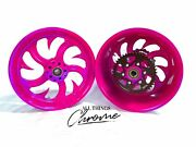 Hayabusa 360 Fat Tire Candy Pink Shark Tooth Wheels 1999-2007 Suzuki Hayabusa