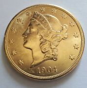 1904 S 20 Liberty Gold Double Eagle- Shipping Included..