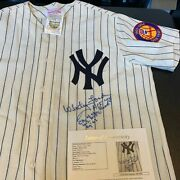 Whitey Ford Chairman Of The Board Signed Heavily Inscribed Yankee Jersey Jsa Coa