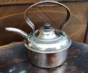 """Beautifully Made Early 20th C. Copper Kettle Teapot. 7.5"""" Tall X 8"""""""