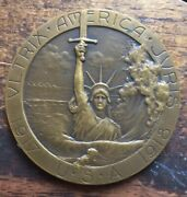 Rare Wwi Sinking Of The Rms Lusitania Bronze Medal May 1915 Us 1917 - 1918.