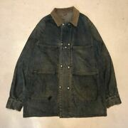 Biltwell Double Snap Denim Coverall Jacket Indigo 50and039s Vintage Menand039s Rare Used