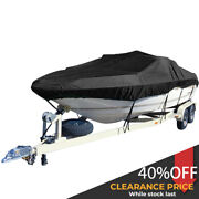 17-19ft Heavy Duty 600d Marine Grade Boat Cover Fit V-hull Tri-hull Runabout
