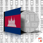 Cambodia Stamp Album Pages 1951-2007 394 Pdf Pages