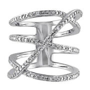 1.90ct Natural Diamond 14k Solid White Gold Band Ring Size 7 To 9