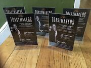 Sinatra / Jack. Daniels Drink Cards W/ Lucite Frames. 4 By 6 Inch. Set Of 5