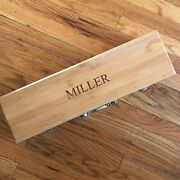 Personalized Bamboo Bbq Gift Set Grilling Tool Set Miller Engraved Chefs Gift