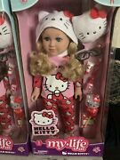 Hello Kitty My Life As 18 Blonde Hair Doll Pajamas Slippers Glasses Lamp