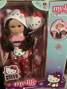 My Life As Hello Kitty 18 Poseable Doll Brown Hair. Condition Is New