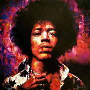 Are You Experienced Jimi Hendrix Painting On Canvas By Artist William Iii