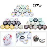 12pcs Metal Storage Tin Cans Jars Containers With Lids For Candy Cookie Cosmetic
