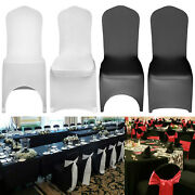 Black/white Chair Covers Full Seat Cover Spandex Lycra Stretch Banquet Wedding