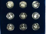 1987 Paramount Papal Visit Sterling Silver Coin Set 9 Sterling Rounds