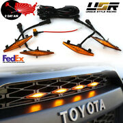 2day Air Drl Wire Included Snap On 4pcs Raptor Led Grill Light For 2014+ 4runner