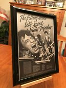 Big 9x12 Framed Rolling Stones Let's Spend The Night Together 1983 Vhs Tape Ad