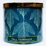1 Bath And Body Works Fall Farmhouse Large 3-wick Candle 14.5 Oz
