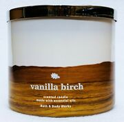 1 Bath And Body Works Vanilla Birch Large 3-wick Candle 14.5 Oz
