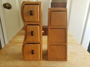 Decorative Hand Made Wooden Boxes Oak And Padauk Bookends