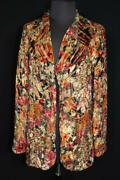 Collectible Rare French Vintage 1920and039s Cut Metallic Velvet Jacket Size Medium