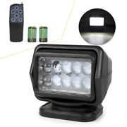 Remote Control 360anddeg 50w Cree Led Search Spot Light For Jeep Truck Marine Boat