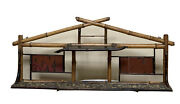 Antique English Japanese Oriental Chinoserie Wall Curio Display Shelf Bamboo