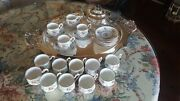 Set Royal Albert Pattern Bone China 14 Cups And 14 Saucers England Very Fine Con