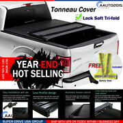 Fits 2015-2020 Ford F-150 Assemble Lock Soft Tri-fold Tonneau Cover 8ft Long Bed
