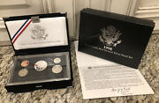 1998-s U.s. Mint Complete Silver Premier Proof Set Gem Coins With Box And Coa