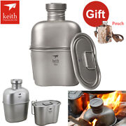 Keith Ti3060 Titanium Military Canteen Outdoor Bottle Cup 1.8l Cookware Camping