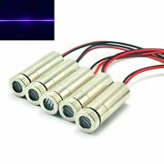 5pc Focusable 405nm 10mw Line Violet/blue Laser Diode Module 12x35mm W/driver In