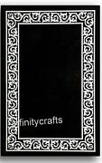 36 X 48 Inches Black Garden Table Top Exclusive Design Marble Living Room Table