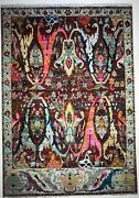 8x10 Hand Knotted Fine Wool Oriental Area Rug Red Color 1/2and039pile
