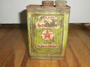 Vintage Early 1920s Texaco Station Harness Oil Advertising Pail Bucket Can