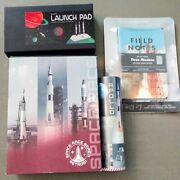 Retro 51 Space Race 3-pen Box Set Apollo Fp Launch Pad Display And Field Notes
