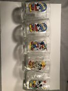 Vintage Lot Of 5 Mickey Mouse Epcot Center/mcdonalds Year 2000 Glasses