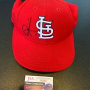 Mark Mcgwire Signed St. Louis Cardinals Game Model Baseball Hat Cap With Jsa Coa
