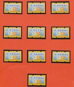 K246-50 2000 Germany Mix Of 10stamps Vending Machine Ay