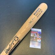 Dudley Moore Signed Personal Model Baseball Bat With Jsa Coa And Signed Letter