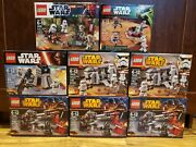 Lego Star Wars Battle Pack Lot - Stormtrooper Clone Troopers + More New In Box