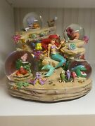 Rare Disney The Little Mermaid Under The Sea Collectors Musical Snowglobe Sealed