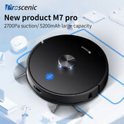 Proscenic M7 Pro Laser Vacuum Cleaner Robot Carpet Pet Hair Wet Mopping 2700pa