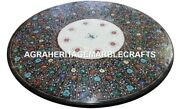 Marble Dining Round Table Top Rare Stone Mosaic Inlay Hallway Decor Gifts H2938
