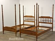 Heywood Wakefield Maple Twin Beds - A Pair